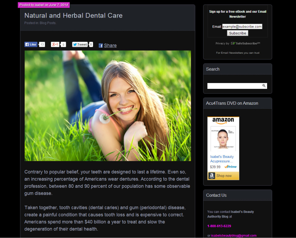 Natural Dental Care Screenshot