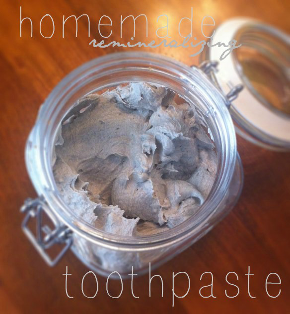 Great new recipe for remineralizing homemade toothpaste